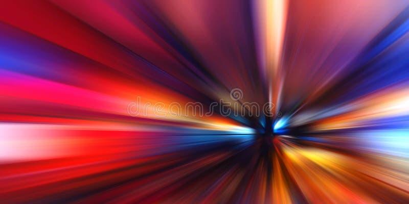 Abstrakcjonistyczny ruch prędkości tło, kolorowe linie i plama, zdjęcie royalty free