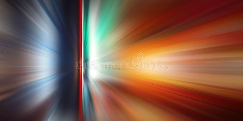 Abstrakcjonistyczny ruch prędkości tło, kolorowe linie i plama, obrazy royalty free