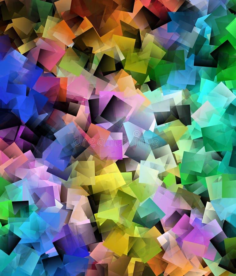 Abstrakcjonistyczny ruchu tło w tęcza kolorach ilustracja wektor