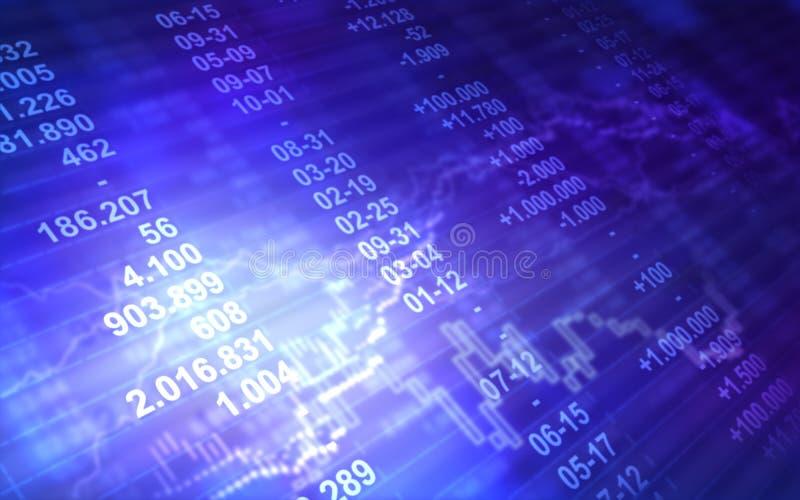 Abstrakcjonistyczny rynek papierów wartościowych ilustracja wektor