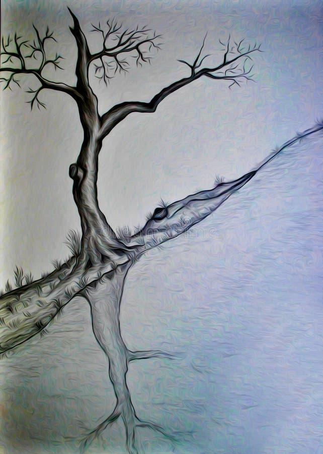 Abstrakcjonistyczny rysunek latający gad ilustracji