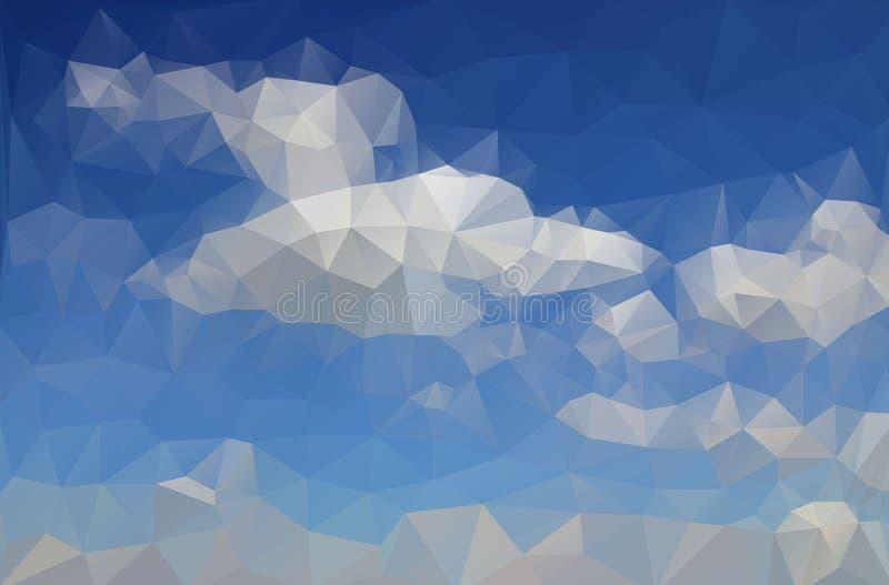 Abstrakcjonistyczny rysunkowy lazurowy niebieskie niebo royalty ilustracja
