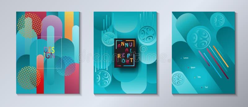 Abstrakcjonistyczny rzadkopłynny koloru tła lata podróży set ilustracji