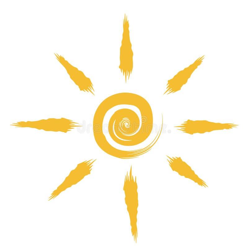 Abstrakcjonistyczny słońce rysunek royalty ilustracja