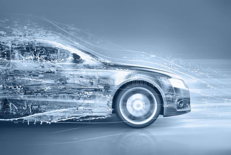 Abstrakcjonistyczny samochód ilustracja wektor