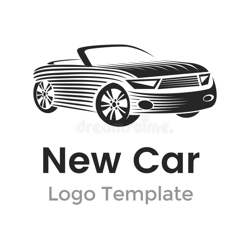Abstrakcjonistyczny samochodowy loga projekta szablon Nowożytna samochodowa wektorowa ilustracja ilustracji