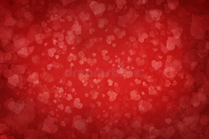 Abstrakcjonistyczny serca tło royalty ilustracja