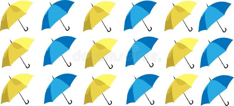 Abstrakcjonistyczny sezonu tło z parasolem ilustracja wektor