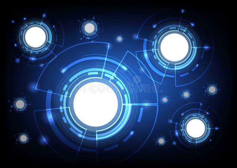 Abstrakcjonistyczny sfera kształt globalnej sieci i technologii pojęcie ilustracji