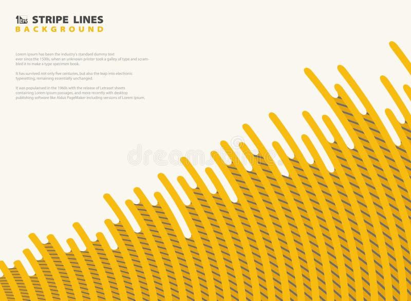 Abstrakcjonistyczny siatki junakowania kolor żółty z czarnymi lampas liniami deseniuje nowożytnego projekta tło Ty możesz używać  ilustracja wektor