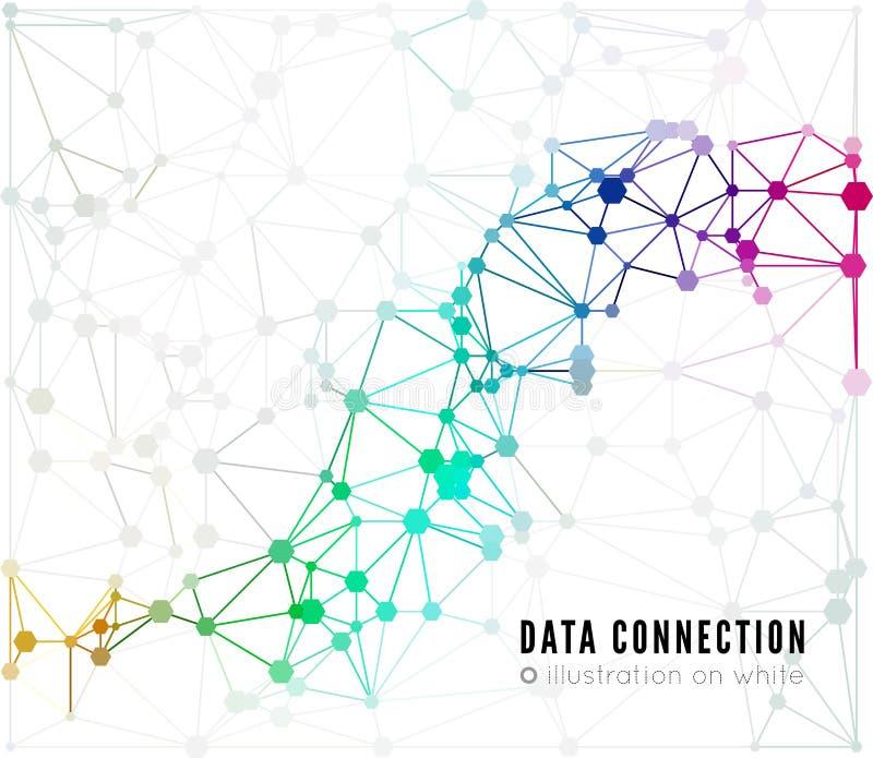Abstrakcjonistyczny sieć związku tło royalty ilustracja