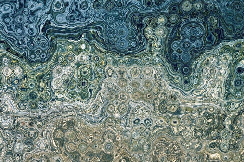 Abstrakcjonistyczny skład dla tło w błękicie i siwieje ilustracji