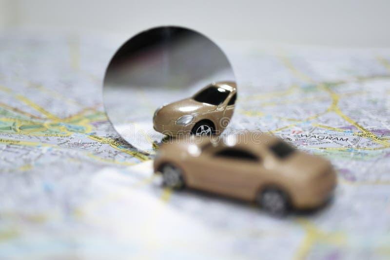 Abstrakcjonistyczny skład używać samochodowych lustra zdjęcia royalty free