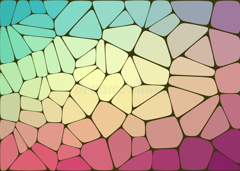 Abstrakcjonistyczny skład z voronoi geometrycznymi kształtami ilustracji
