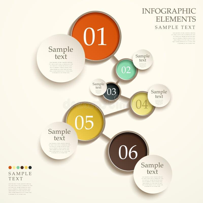 Abstrakcjonistyczny spływowej mapy infographics royalty ilustracja
