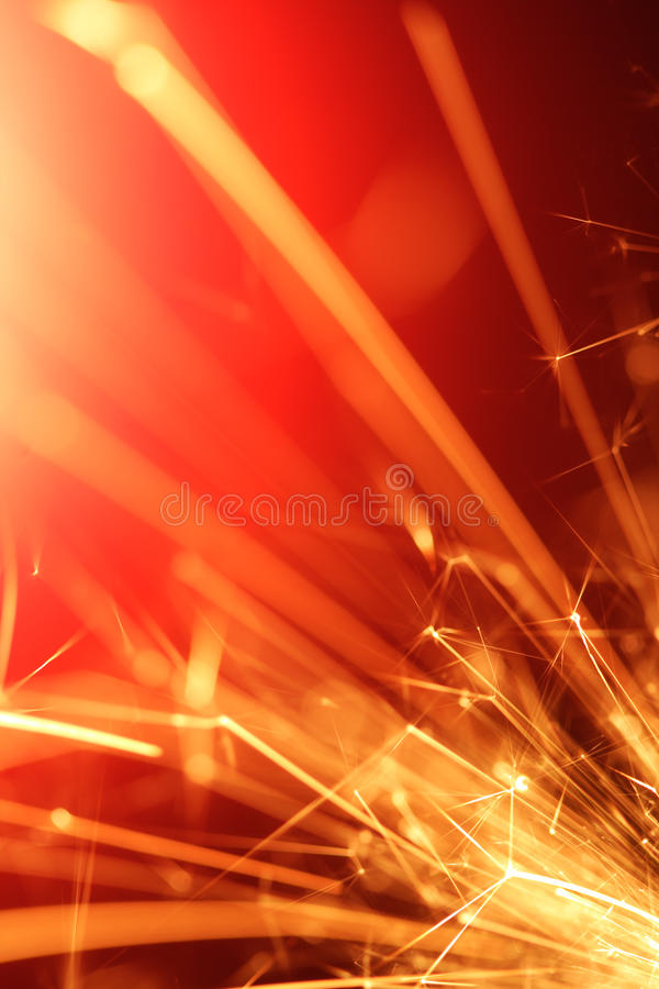 abstrakcjonistyczny sparkler fotografia stock