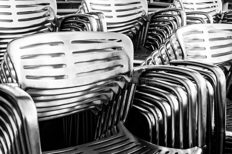 Abstrakcjonistyczny Stalowy metalu krzesła tło Ja zdjęcie stock