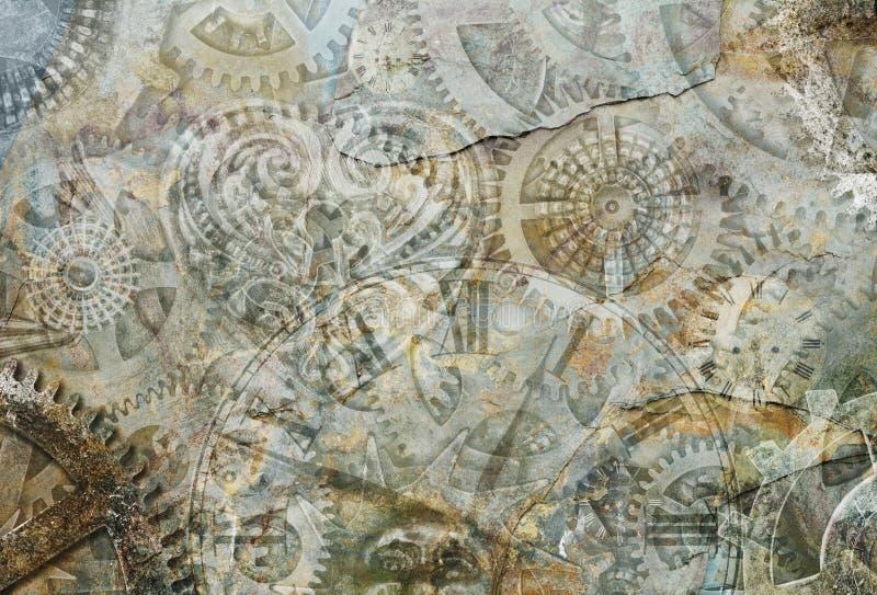 Abstrakcjonistyczny Steampunk tło ilustracja wektor