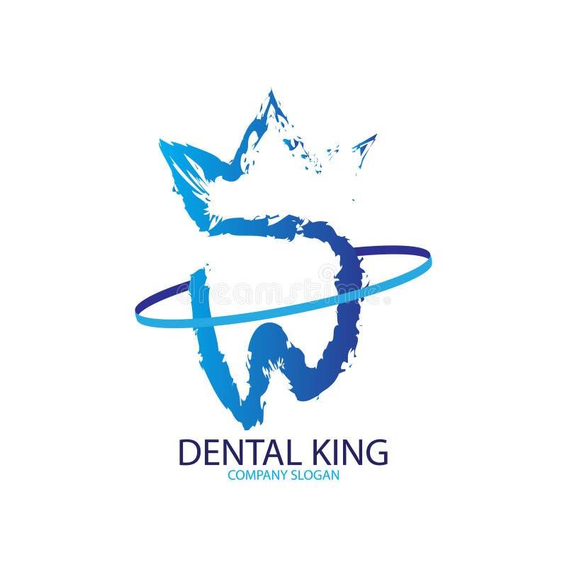 Abstrakcjonistyczny stomatologiczny królewiątko logo dla stomatologicznej kliniki royalty ilustracja