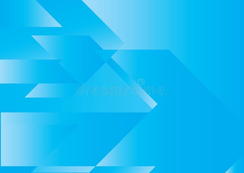 abstrakcjonistyczny strzała błękit pojęcie ilustracja wektor