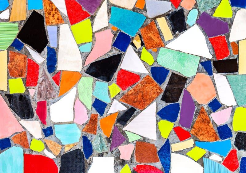 Abstrakcjonistyczny stubarwny ceramiczny mozaiki tło obraz royalty free