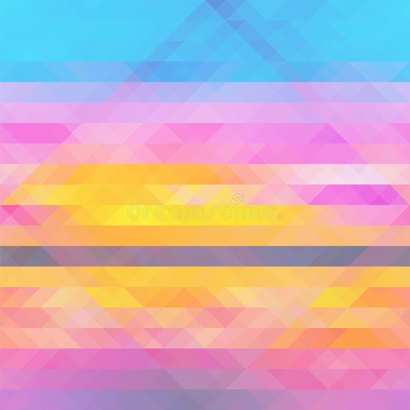 Abstrakcjonistyczny stubarwny geometryczny deseniowy tło z trójbokami ilustracja wektor
