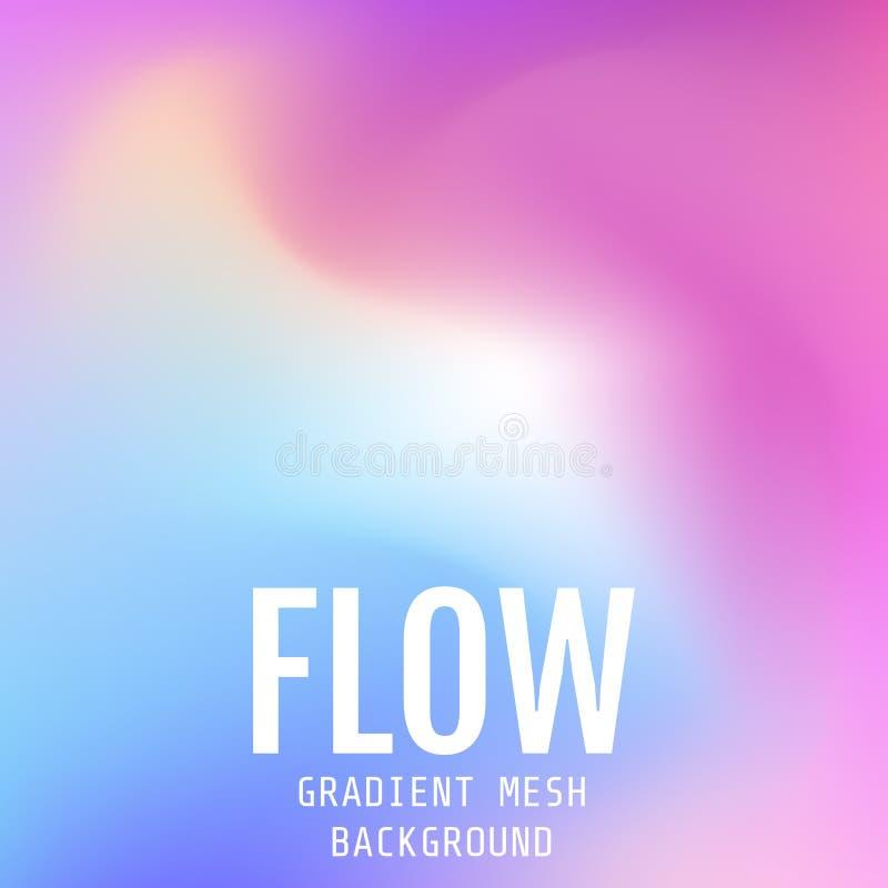 Abstrakcjonistyczny stubarwny jaskrawy gradientowy siatki tło Przepływ m royalty ilustracja