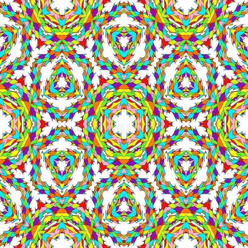 Abstrakcjonistyczny stubarwny kalejdoskopu tło ilustracja wektor