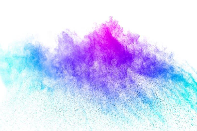 Abstrakcjonistyczny stubarwny prochowy splatter na białym tle zdjęcie royalty free