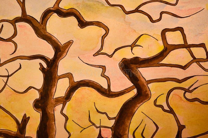 Abstrakcjonistyczny stubarwny tło, grafika, parawanowy ciułacz i obrazek, zdjęcie stock
