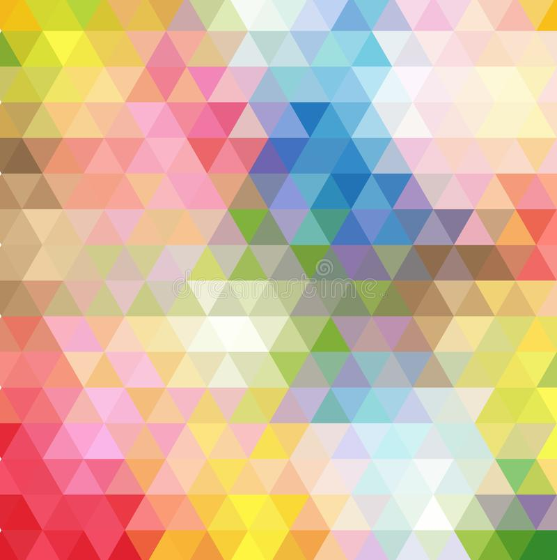 Abstrakcjonistyczny stubarwny wielobok, niski wieloboka tło Przetaczanie kolor wszystko farbuje tęczę geometryczny ilustracji