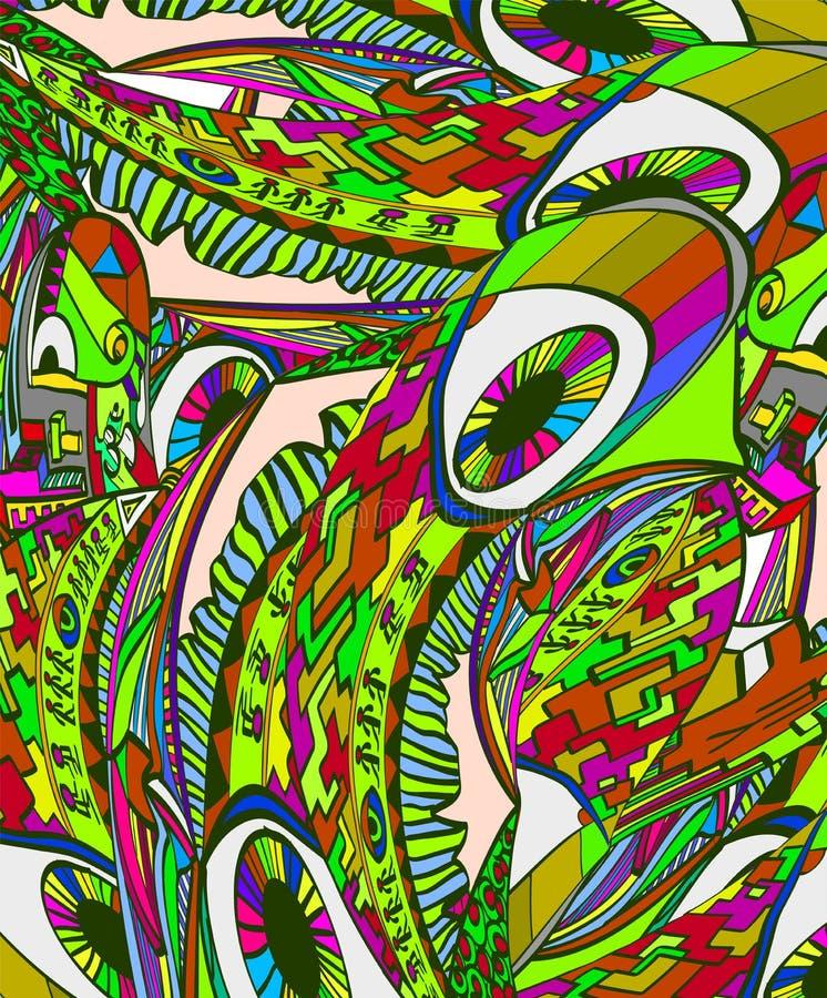Abstrakcjonistyczny surrealistyczny wektorowy tło ilustracja wektor
