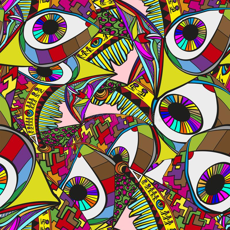 Abstrakcjonistyczny surrealistyczny wektorowy tło Szalony jaskrawy tło royalty ilustracja