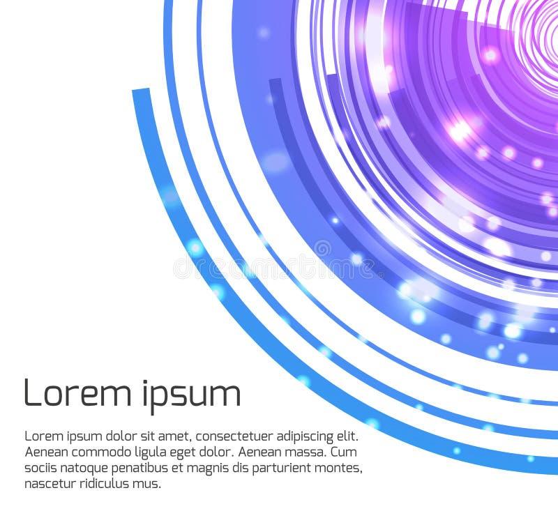 Abstrakcjonistyczny szablon dla prezentacj z koncentryczną kurendą royalty ilustracja