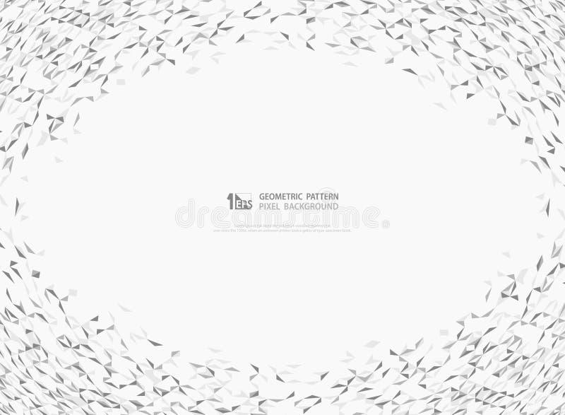 Abstrakcjonistyczny szarość i bielu trójbok deseniuje dekorację dla nowożytnego projekta tła Ilustracyjny wektor eps10 ilustracja wektor
