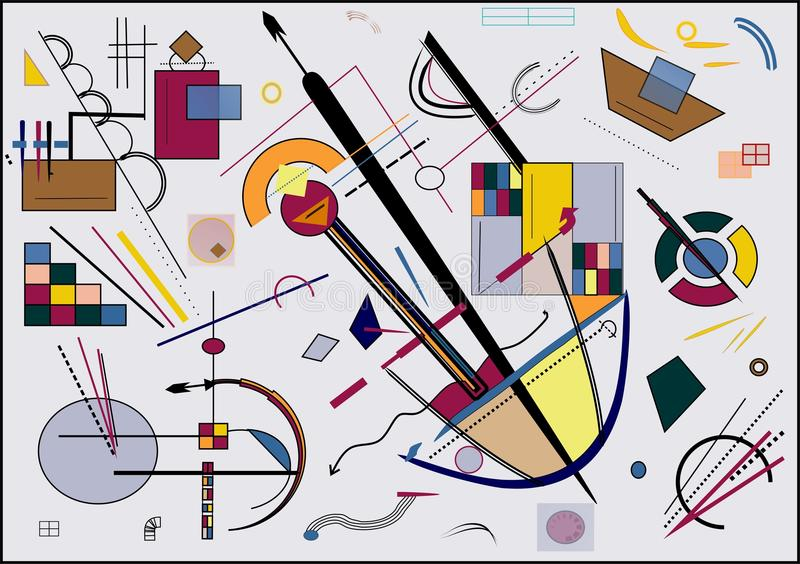 Abstrakcjonistyczny szary tło, inspirujący malarzem kandinsky obrazy royalty free