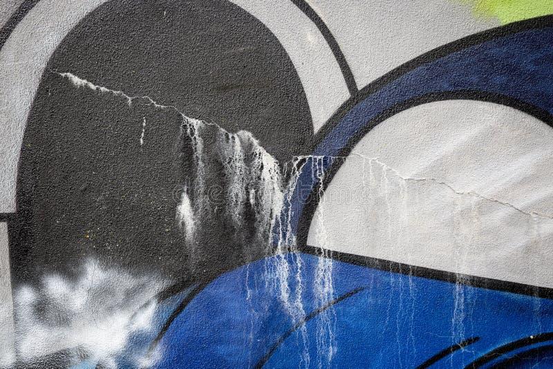 Abstrakcjonistyczny szczegół samochód ręcznie malowany na ścianie zdjęcie royalty free