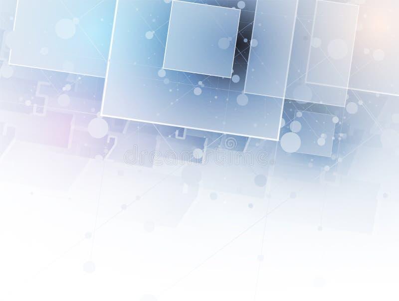 Abstrakcjonistyczny sześcianu interneta informatyki biznesu rozwiązanie ilustracja wektor