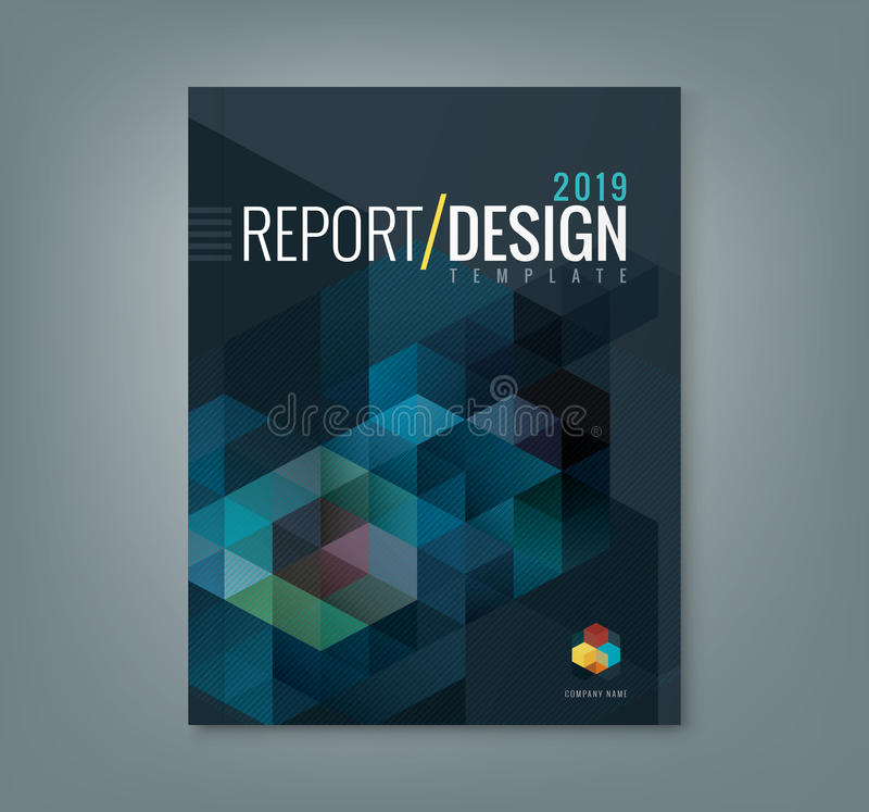Abstrakcjonistyczny sześciokąta sześcianu wzoru tła projekt dla korporacyjnego biznesu sprawozdania rocznego książkowej pokrywy ilustracja wektor