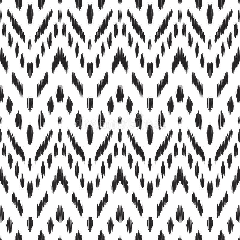 Abstrakcjonistyczny szewronu tło Ikat bezszwowy wzór ilustracji
