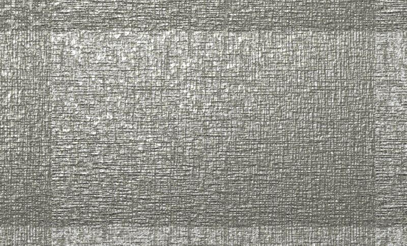 Abstrakcjonistyczny szorstki srebro textured kanwa z ramą dla tło projektów ilustracja wektor