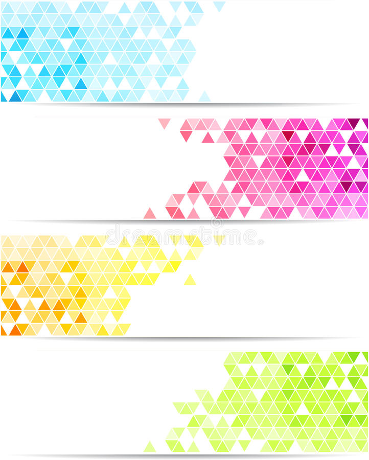 Abstrakcjonistyczny sztandar ilustracja wektor
