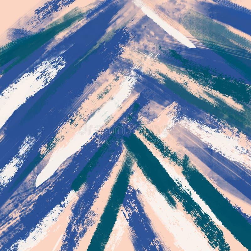 Abstrakcjonistyczny tło, drybrush technika, atrament Ręka rysujący brushstrokes farby wzór Miękki pastel royalty ilustracja