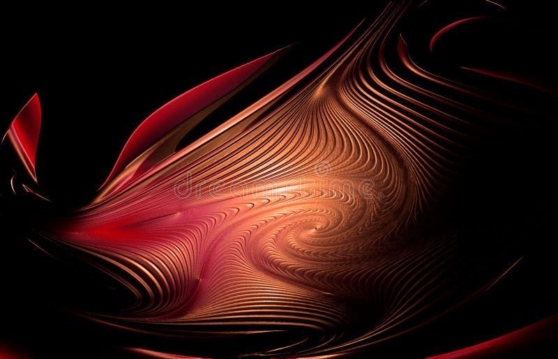 Abstrakcjonistyczny tło, psychodeliczna kształt łuna w zmroku ilustracji