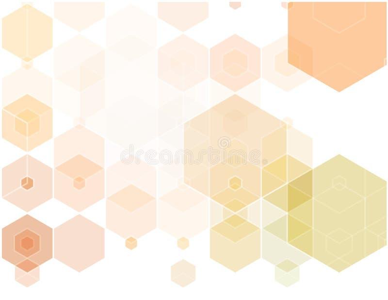Abstrakcjonistyczny tło składa się beż, biel, różowi sześciokąty również zwrócić corel ilustracji wektora ilustracji