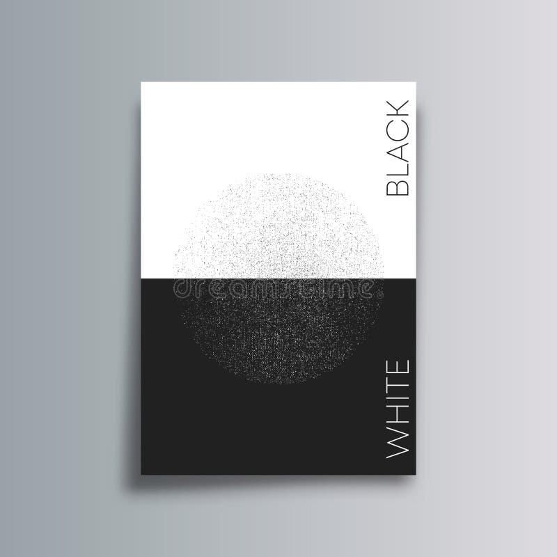 Abstrakcjonistyczny tło z czarny i biały grunge teksturą - minimalny plakatowy projekt ilustracja wektor