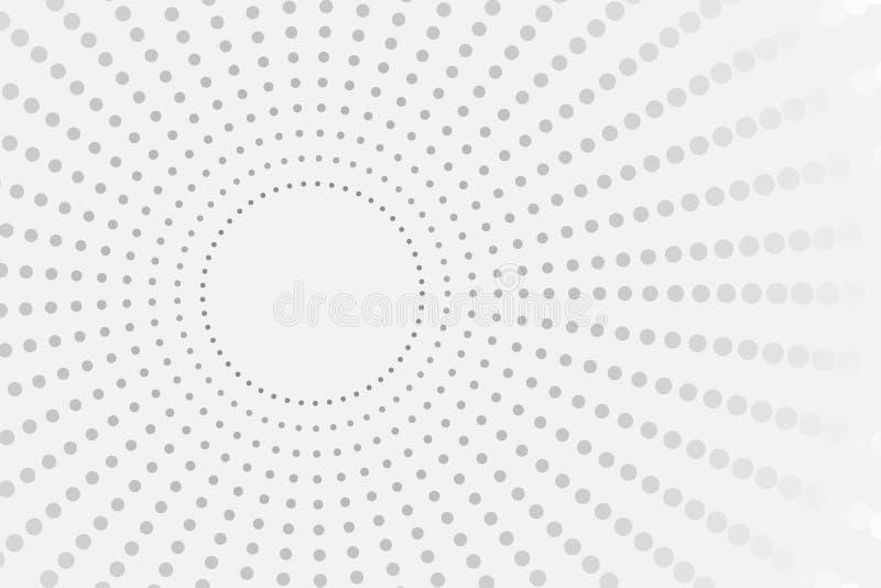 Abstrakcjonistyczny tło z geometryczną teksturą Halftone popielaty gradient dla biznesowej prezentacji, sztandaru, plakata lub ul ilustracja wektor