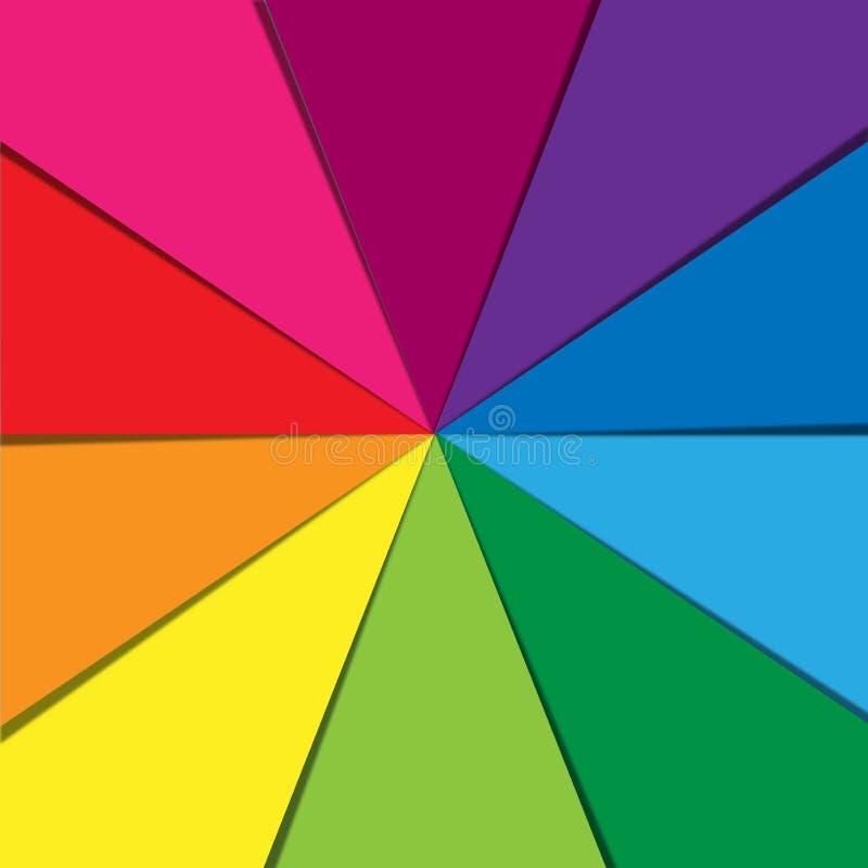 Abstrakcjonistyczny tęcza kolor Tapetuje tekstury Geometrycznego tło royalty ilustracja