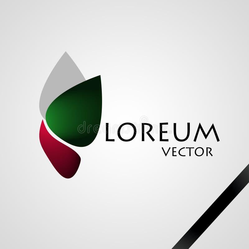 abstrakcjonistyczny tła czerń firmy elementu logo fotografia stock