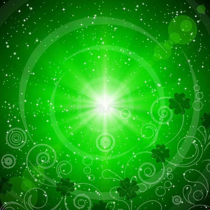 abstrakcjonistyczny tła dzień zieleni Patrick s st ilustracja wektor